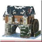 600346 animated water mill