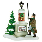 56 58393 ye olde lamplighter dickens village sign