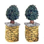 56 52649 village stone holly tree corner posts