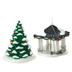 4016901 town square tree and gazebo