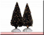 04507-4 inch shimmering bristle tree set of 2