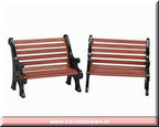 34895-park bench set of 2