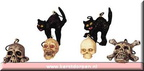 42844-halloween tree decoration cats with skuls
