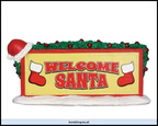 34613-welcome santa sign
