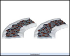 34663-stone road-curved set of 2