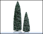 34664-snowy juniper tree set of 2 9 and 6