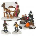 609.107-campfire skiing b.o. set of 4