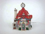 """Star Brite Glass Ornament Shop"" North Pole Village Series 4030712"