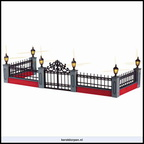 54303 lighted wrought iron fence