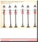 605128 gas street lamp set of 6