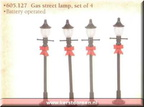 605127 gas street lamp set of 4