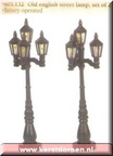605132 old english street lamp set of 2