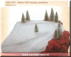 605501 snowy hill display platform