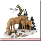 600067 horse and foal scenery