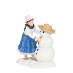 601504 Francine with snowman