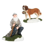 601611 man with sint-bernard set of 2