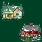 56 65382 jacob adams farmhouse and barn set of 5