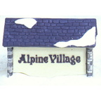 56 65714 alpine village sign