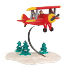 56 54402 spirit of snow village airplane