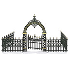 56 52523-victorian wrought iron fence with gate