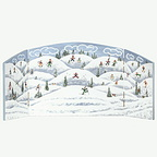 56 52930 winter scene backdrop