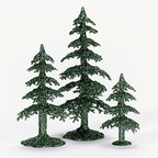 56 53032 acrylic green glitter trees