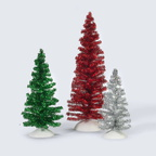 56 53192 classic tinsel trees - red green silver