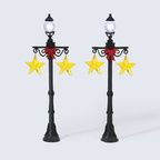 56 53190 christmas star street lights