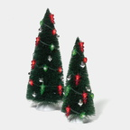 56 53613 lighted ornament trees