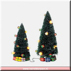 53617 lighted christmas gift trees set of 2