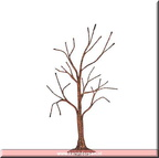 809457 copper glitter bare branch tree