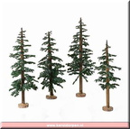 4025363 winter lodge pines set of 4