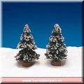 44086-4-inch evergreen tree set of 2