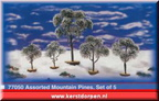 77050-assorted mountain pines set of 5