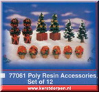 77061-poly resin accessories set of 12