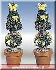 84266-poly-resin cone shaped topiaries