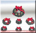 84270-poly-resin wreaths with red bows