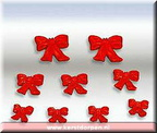 84272-poly-resin red bows set of 9