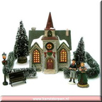 96136-village-church-set-of-10