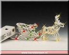 14620-lighted sculpture - reindeer and sleigh with chasing lights