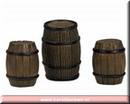 14634-poly resin barrels setof 3