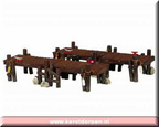 14644-wooden piers set of 2