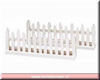 24034-wooden fence set of 2 white picket