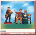 22553-park bench chat and postman set of 2