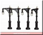 34962-victorian street lamp set of 4