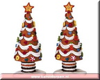 42853-sugar cone xmas tree set of 2