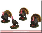 52119-gobbling turkeys set of 4