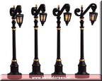 54313-colonial street lamp set of 4
