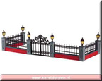 54303-lighted wrought iron fence