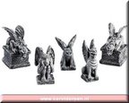 52124-gargoyles set of 5